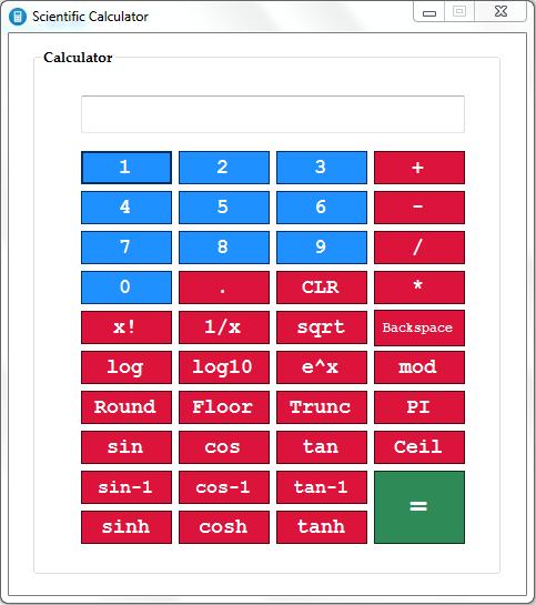 ماشین حساب مهندسی به زبان سی شارپ